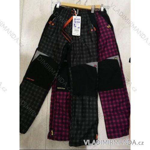 Kalhoty manžestr zateplené flaušem dětské dorost chlapecké a dívčí  (116-146) GRACE MA31881318 e52ee7a20b