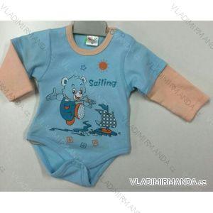 Body dlhý rukáv dojčenské dievčenské a chlapčenské (56-104) KAY PV118175