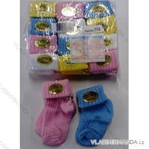 Ponožky teplé kojenecké dívčí i chlapecké (0-3 měsíců) TURECKO PV118190