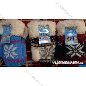 Rukavice palčáky teplé kojenecké dětské dívčí a chlapecké JIALONG JIA18801