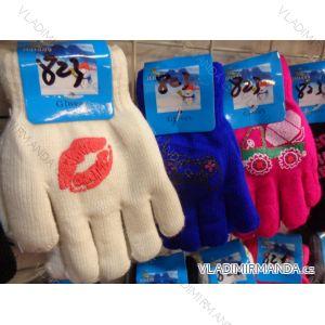 Rukavice prstové dětské dívčí a chlapecké (3-8 let) JIALONG JIA18823