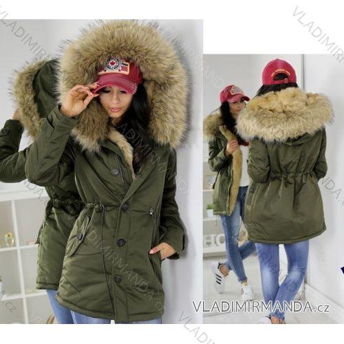 Kabát zimné parka s kožušinkou dámska (sl) K-ZELL TALIANSKÁ MÓDA IM917213 2f5b45f875e