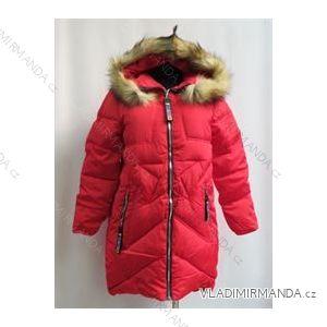 Kabát zimné prešívaný dámsky s kožušinkou (m-2xl) Poľsko moda LEU18828