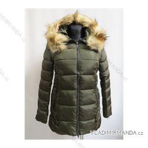 Kabát zimné prešívaný s kožušinkou dámsky (s-2xl) Poľsko moda LEU188867
