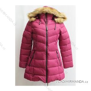 Kabát zimné prešívaný s kožušinkou dámsky (s-2xl) Poľsko moda LEU181921