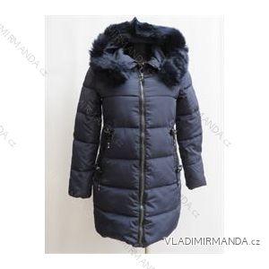 Kabát zimné prešívaný dámsky s kožušinkou (m-2xl) Poľsko moda LEU18888