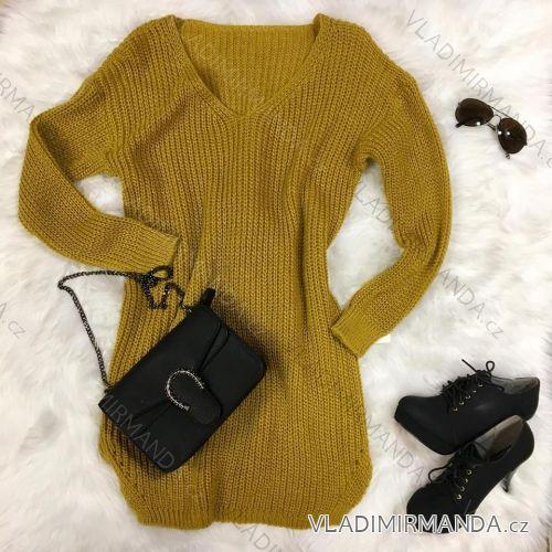 63819d2be Šaty / sveter pletené dlhý rukáv dámske (uni sl) TALIANSKÁ MÓDA IM418774