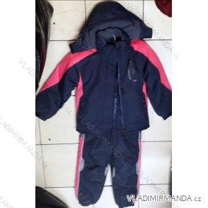 Souprava bunda a oteplovačky zimní dětská a dorost dívčí a chlapecká (134-164) QUIFENG AOL181591B