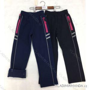 Kalhoty softhellové zateplené flaušem dětské dorost dívčí (104-134) FAD GRA18913