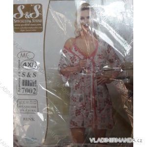 Souprava noční košile a županek dlouhý rukáv dámská (s-3xl) SAS TURECKO  IM10182