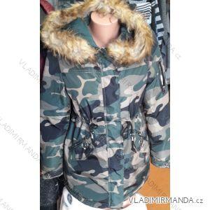 Kabát parka maskáčová dámska teplá s kožušinou (s-2xl) LHD FASHION LHD-001