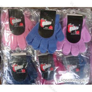 Rukavice slabé pletené prstové dětské dívčí a chlapecké(1-3 let) TELICO GL014