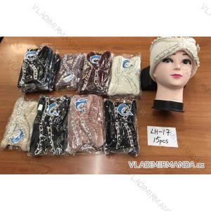 Čelenka zimní ozdobená perličkami dívčí a dámská  (size one) LH-17