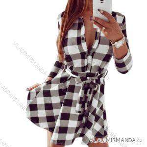 Šaty košilového typu dlouhý rukáv kostkované dámské (s-4xl) AFASHION AF18016