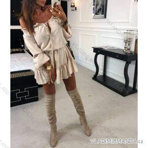 Šaty tenké dlouhý rukáv dámská (uni s-l) ITALSKá MóDA IM2182836