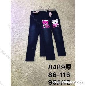 Leginy jeans teplé dětské dorost dívčí (86-116) ACTIVE SPORT ACT188489