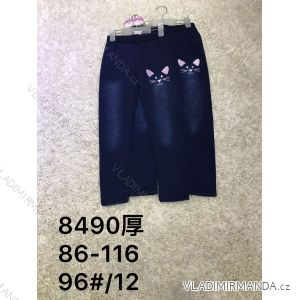 Leginy jeans teplé dětské dorost dívčí (86-116) ACTIVE SPORT ACT188490