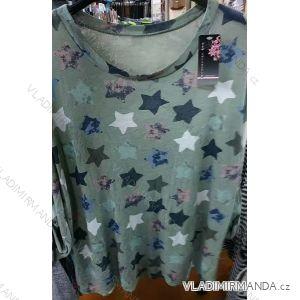 a25a1e9bc Tričko tunika 3/4 dlhý rukáv dámske hviezdy (uni sl) Talianska MODA  IM4181013