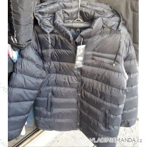 Zimní bunda polstrovaná s kapucí nadrozměrná pánská (2xl-5xl) HUAGE BY1807