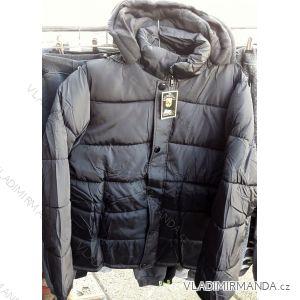 Zimní bunda polstrovaná s kapucí nadrozměrná pánská (2xl-5xl) HUAGE 1803BZ