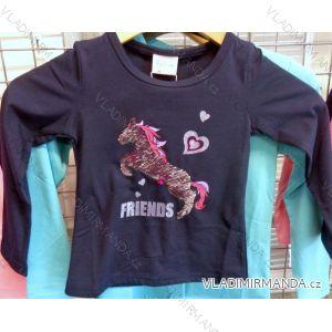 Tričko teplé flitr dlouhý rukáv dětské dívčí (98-128) VOGUE IN XJX91612