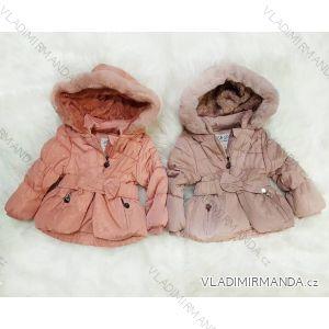 Bunda  kabát zimní zateplená kožíškem kojenecká dětská dívčí (6-36 měs.) FAD TM218L-101