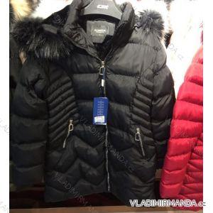 Bunda zimní prošívaná s kožešinou nadrozměrná dámská (l-4xl) EMT-ALNWICK EMT18011