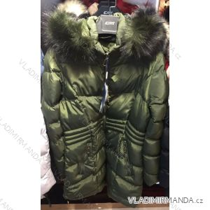 Bunda zimní prošívaná s kožešinou nadrozměrná dámská (l-4xl) EMT-ALNWICK EMT18012