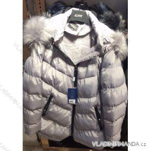 Bunda zimní prošívaná s kožešinou nadrozměrná dámská (2xl-6xl) EMT-ALNWICK EMT18013