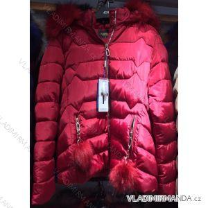 Bunda zimní prošívaná s kožešinou nadrozměrná dámská (l-4xl) EMT-ALNWICK EMT18014