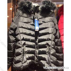 Bunda zimní prošívaná s kožešinou nadrozměrná dámská (l-4xl) EMT-ALNWICK EMT18015
