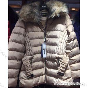 Bunda zimní prošívaná s kožešinou nadrozměrná dámská (l-4xl) EMT-ALNWICK EMT18016