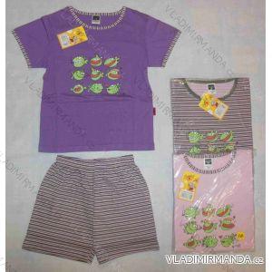 Pyžamo krátké rukávy a nohavice dětské dívčí (100-130) CHEESE NP0159