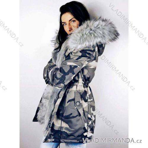 8505b8670c9a Kabát zimní parka s kožíškem dámská maskáč army (s-l) K-ZELL ITALSKá MODA