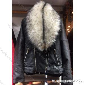 Bunda zimní koženka s kožešinou dámská (s-2xl) EMT-ALNWICK EMT18024