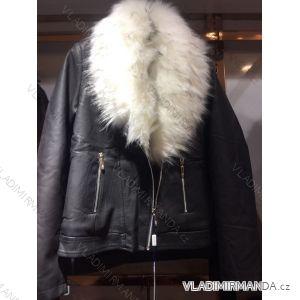 Bunda zimní koženka s kožešinou dámská (s-2xl) EMT-ALNWICK EMT18026