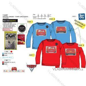 Tričko flitr dlouhý rukáv cars dětské chlapecké bavlněné (3-8 let) SUN CITY RH1197