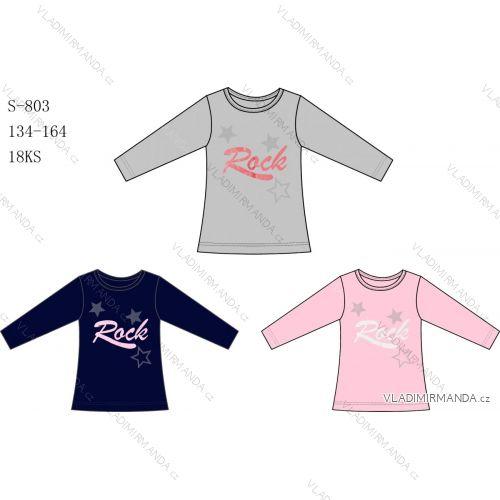 Tričko dlouhý rukáv dětské dívčí sezon (134-164) S-803S