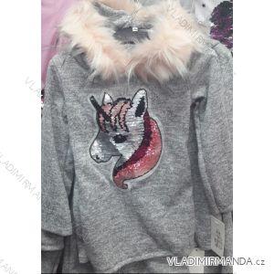 Mikina s kapucí teplá dětská dorost dívčí (4-14 let) TURECKá MóDA TM218203