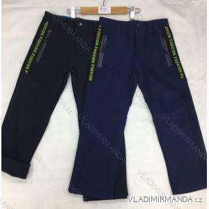 Kalhoty softhellové zateplené flaušem dětské dorost chlapecké(116-146) FAD GRA18910