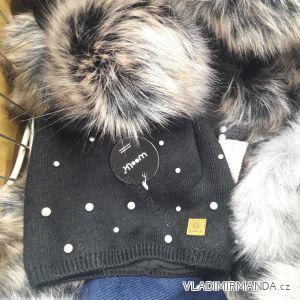Čepice zimní zateplená flaušem dámská a dorost (uni) WOOLK POLSKO PV418241