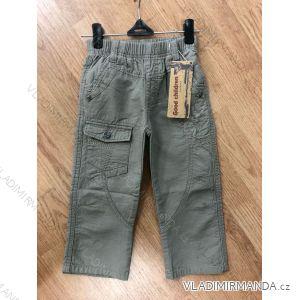 Kalhoty plátené teplé dětské chlapecké (98-128) GOOD CHILDREN 511
