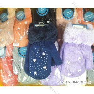 Rukavice palčáky teplé s kožíškem kojenecké (uni) SANDROU COLLECTION MIC18012