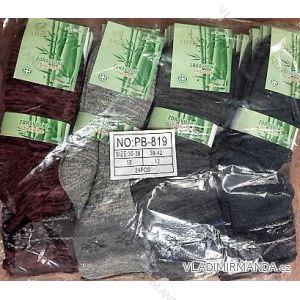 Ponožky teplé thermo zdravotní  bambusové melírový vzor dámské (35-42) AMZF  PB-819