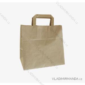 Papírová taška hnědá kraft 26+17x25 50ks/balení