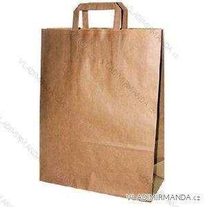 Papírová taška hnědá kraft 32+16x44 50ks/balení