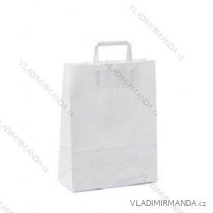 Papírová taška bílá kraft 32+16x44 50ks/balení