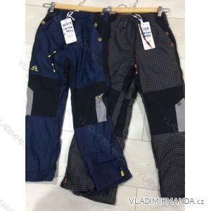 Kalhoty manžestr zateplené dětské dorost chlapecké a dívčí (116-146) GRACE MA21881319