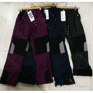 Kalhoty manžestr zateplené flaušem dětské dorost chlapecké a dívčí (116-146) GRACE MA31881317