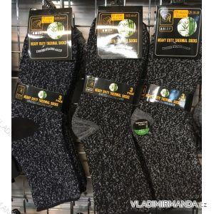 Ponožky teplé thermo bambusové zdravotní pánské (40-47) AMZF  PA-666
